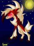 Lycanroc in the moonlight by Kyuubi-Youko
