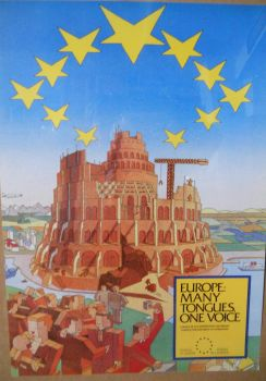 EU Parliament (Tower of Babel Poster 01) by NixSeraph