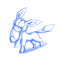 Glaceon SketchArt by Bluekiss131