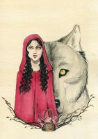 Red Wolf by Kitty-Grimm