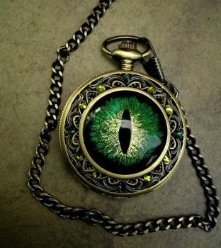Green Gold Blue Colorshift on Emerald - Time Piece by LadyPirotessa