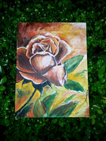 Rose in bloom Painting by jamaaa14