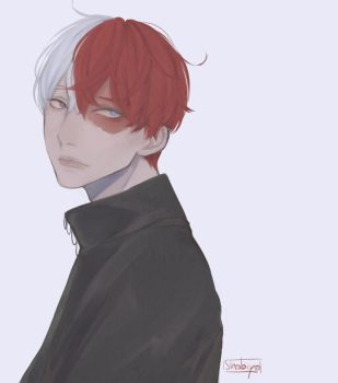 Todoroki Shouto by shobiyo