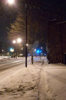 Cuyahoga Falls Ave winter 3 by coffeenoir