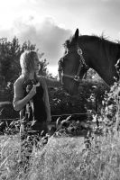 The girl and the horse by TPoulsen
