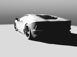 Lamborghini Aventador LP 700-4 Low Poly by achfighter
