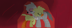 Mangle and chica love forever by Zombieinblack03