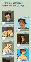 Top 10 Hottest Total Drama Guys by AerisSs