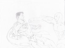 Superboy fight KRYPTONITE KID by connie866