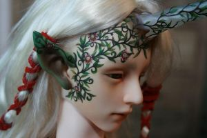 Tarion the druid passion flower face-up 2 by PinkHazard