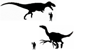 Torvosaurus and Therizinosaurus size comparision by koopalings98