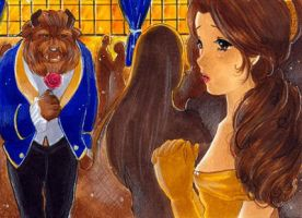 ACEO-The Beauty and the Beast by Toffi-Fee