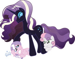 Request:  Nightmare Rarity vs Diamond Tiara by T-3000