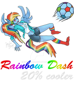 Rainbow Dash Playing Soccer by ZowieBlaze
