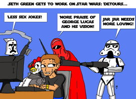THE CREATION OF STAR WARS DETOURS by JohnnyFive81