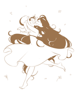 luthien and dior dancing by jubah