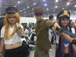 Japanese Army Officer with Panty and Stocking by DarthKaiser