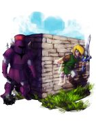 the legend of zelda between worlds FAN ART :D by xdtopsu01