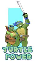 Turtle Power:Leo's by Inover-myhead