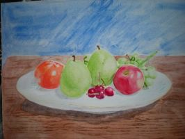 Still life with apple by paigephillips