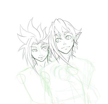 Wip Pan and Liam OC by Dathu-ra