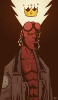 Hellboy drawing by phillip-r