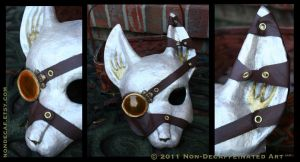 Steampunk Fox Mask by nondecaf