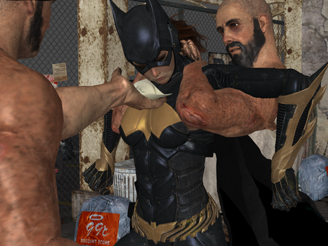 Batgirl defeated by thugs 13 by integfred
