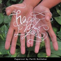 Papercut Art - Happy New Year by ParthKothekar