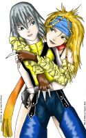 Riku and Rikku by rthr-x