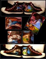 Alice in wonderland shoes by lio25