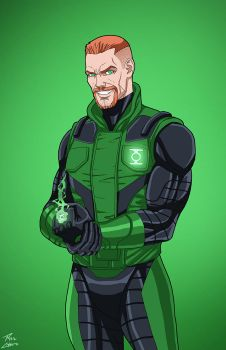 Green Lantern [Guy Gardner] (Earth-27) commission by phil-cho