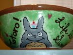 Totoro Loves Sweets Bowl by WingsofMemories