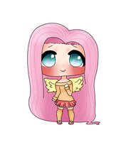 Chibi Fluttershy (uptade) by Usagi-chan1000