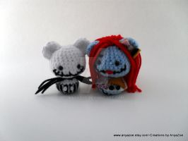 Jack and Sally amigurumi by AnyaZoe