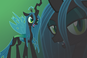 Queen Chrysalis Wallpaper by Luuandherdraws