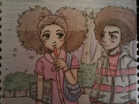 Huey and Jazmine: Popsicle by Millie-Rose13