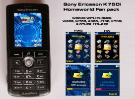 SE K750i Homeworld Fan pack by skywalkerpl