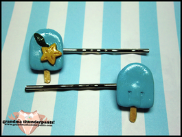 Sea Salt + Paopu HAIRCLIPS :D by GrandmaThunderpants