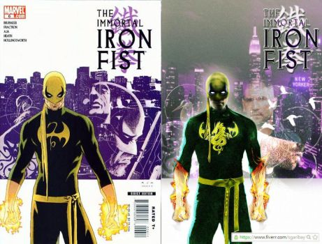 Iron Fist Variant Cover by eliwingz