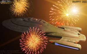 Happy 2016 on USS. Voyager by Joran-Belar