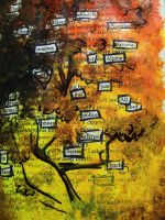 altered book- word tree by GrayWolfShadow