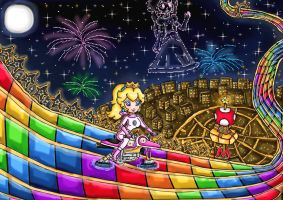 good old days of rainbow road by ninpeachlover