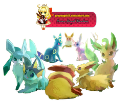 Render Eevee Evolutions by GrayAngel15
