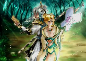 SummonersWar: Taoist and Sylphid by FoxieCSC