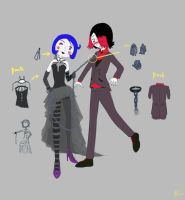 Mandey and Mihael (Promenade Design Contest) by TwitchyWitchyGirl