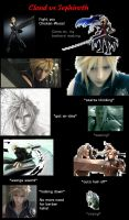 Cloud vs Sephiroth by Dezperado