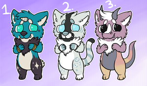 Adoptables by RegallyFlawed