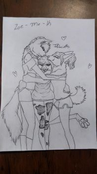 Three trouble makers ||OUTLINE|| by lovebug-2