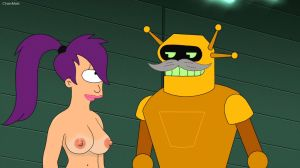 Futurama S07E20 Calculon and Leelaa by 2ndChainMale